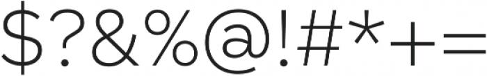 Taro ExtraLight otf (200) Font OTHER CHARS
