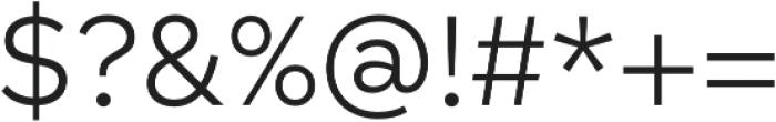 Taro Light otf (300) Font OTHER CHARS
