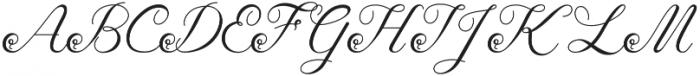 Tashia Regular otf (400) Font UPPERCASE