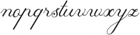 Tashia Regular otf (400) Font LOWERCASE