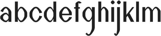 Taste regular otf (400) Font LOWERCASE