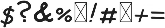 Tate Italic otf (400) Font OTHER CHARS
