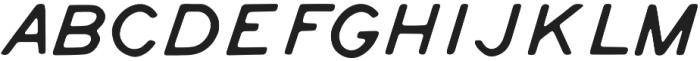 Tate Italic otf (400) Font UPPERCASE