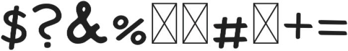 Tate Regular otf (400) Font OTHER CHARS