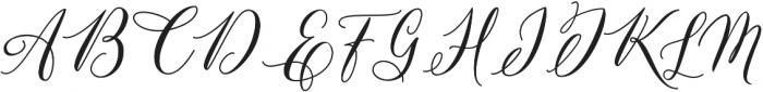 Tatyana otf (400) Font UPPERCASE