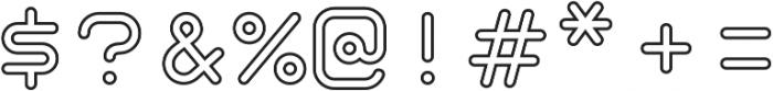 Taurus Mono Outline Regular otf (400) Font OTHER CHARS
