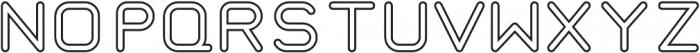 Taurus Mono Outline Regular otf (400) Font UPPERCASE