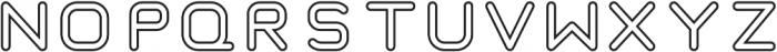 Taurus Mono Outline Regular otf (400) Font LOWERCASE