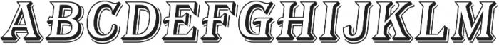 Tavern Alt Open L Regular Italic otf (400) Font UPPERCASE