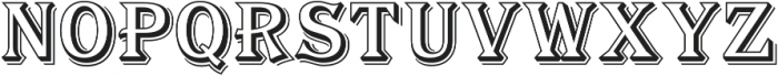 Tavern Alt Open L Regular otf (400) Font UPPERCASE