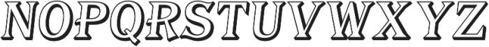 Tavern Alt Open Regular Italic otf (400) Font UPPERCASE