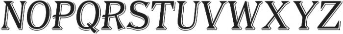 Tavern Alt S Light Italic otf (300) Font UPPERCASE