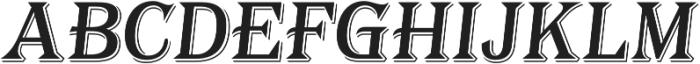 Tavern Alt X Regular Italic otf (400) Font UPPERCASE