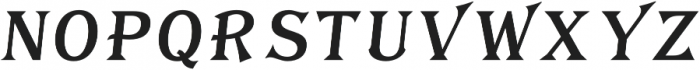 Tavern Fill L Regular Italic otf (400) Font UPPERCASE