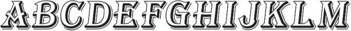 Tavern Open L Regular Italic otf (400) Font UPPERCASE