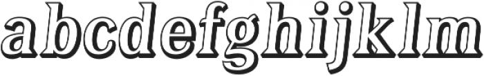Tavern Open Regular Italic otf (400) Font LOWERCASE