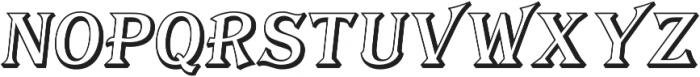 Tavern Open S Regular Italic otf (400) Font UPPERCASE