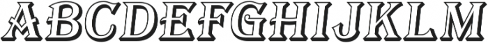 Tavern Open S Regular Italic otf (400) Font LOWERCASE