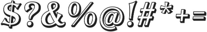 Tavern Open X Regular Italic otf (400) Font OTHER CHARS