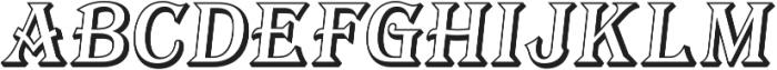 Tavern Open X Regular Italic otf (400) Font UPPERCASE