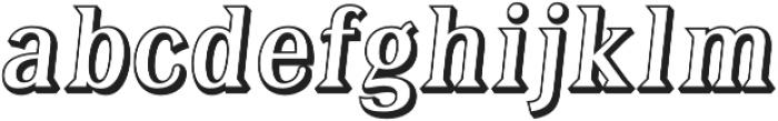 Tavern Open X Regular Italic otf (400) Font LOWERCASE