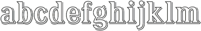 Tavern Out XL Regular otf (400) Font LOWERCASE