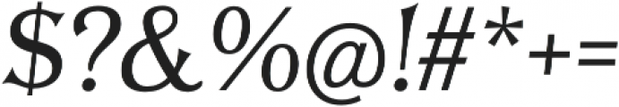 Tavern S Plain Light Italic otf (300) Font OTHER CHARS