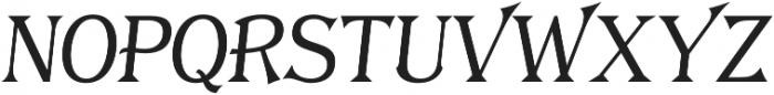 Tavern S Plain Light Italic otf (300) Font UPPERCASE