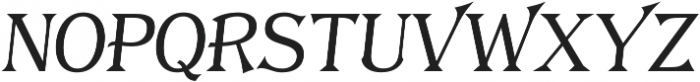 Tavern S Plain Light Italic otf (300) Font LOWERCASE