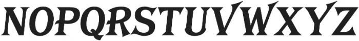 Tavern X Plain Bold Italic otf (700) Font UPPERCASE