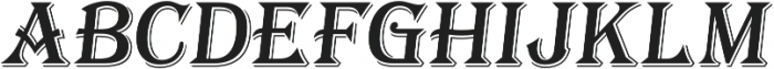 Tavern X Regular Italic otf (400) Font UPPERCASE