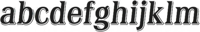 Tavern X Regular Italic otf (400) Font LOWERCASE