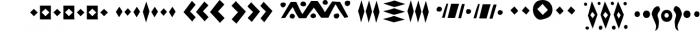 Tabu - Tribal Font Family 2 Font OTHER CHARS