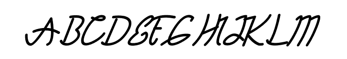 TANTRA Script Font UPPERCASE