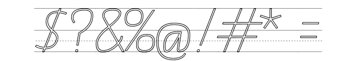 TAS Handwriting Guide Font OTHER CHARS