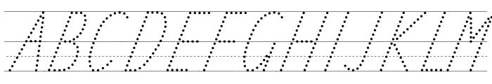 TAS Handwriting Guide Font UPPERCASE
