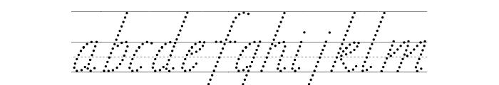 TAS Handwriting Guide Font LOWERCASE