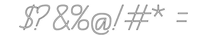 TAS Handwriting Outline Font OTHER CHARS