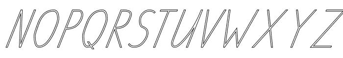 TAS Handwriting Outline Font UPPERCASE