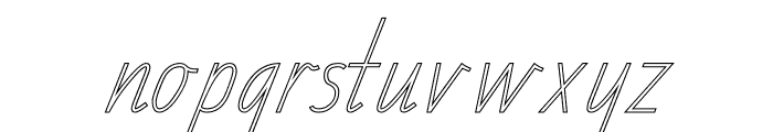 TAS Handwriting Outline Font LOWERCASE