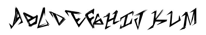 TableShank Font UPPERCASE