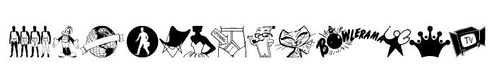 TackODing Dingbat Font LOWERCASE