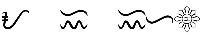 Tagalog Stylized Font UPPERCASE