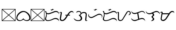 Tagalog Stylized Font LOWERCASE
