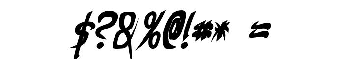 Taibaijan Bold Italic Font OTHER CHARS