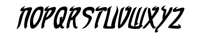 Taibaijan Bold Italic Font UPPERCASE
