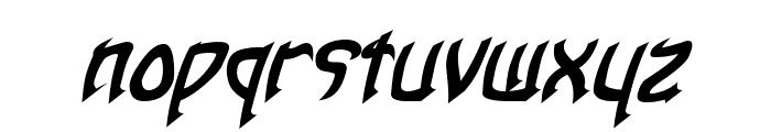 Taibaijan Bold Italic Font LOWERCASE