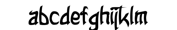 Taibaijan Bold Font LOWERCASE