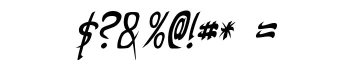 Taibaijan Italic Font OTHER CHARS