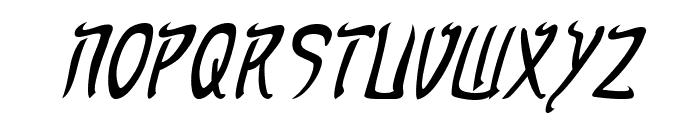Taibaijan Italic Font UPPERCASE